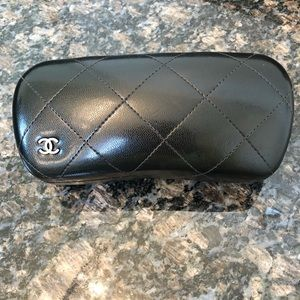 CHANEL Classic Black Quilted Glasses Case